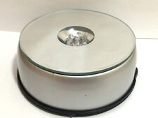 "3D Crystal Glass Trophy Laser 7LED Rotating Electric Light Stand Base Display 4"""