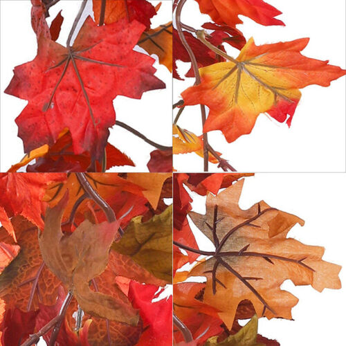 170cm Artificial Autumn Fall Maple Leaves Garland Hanging Plant for Home Garde