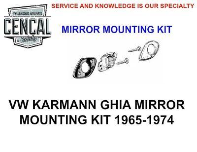VW KARMANN GHIA RIGHT SIDE MIRROR /& MOUNTING KIT 1968-1974 NEW COUPE//CONVERT.