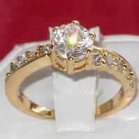 R836 WOMENS ELEGANT PRETTY 6 PRONGS SOLITAIRE SIMULATED DIAMOND RING SET