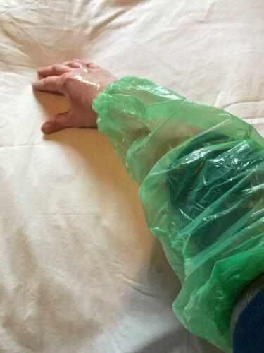 Sploshing Fetish Messy Play PVC Plastic Sleeve Protectors x 4 Pairs