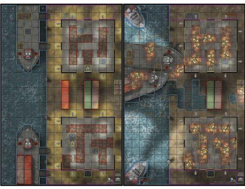 GOTHAM CITY WATERFRONT /& POST CATACLYSM Batman No Man/'s Land OP Map DC HeroClix