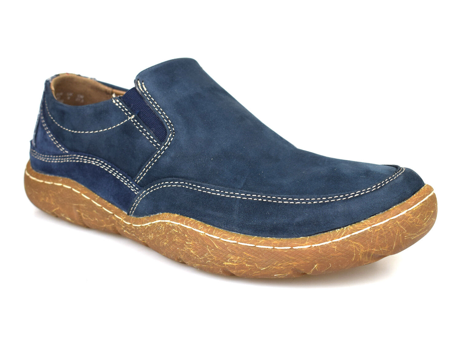 Hush Slip Puppies Sway Navy Navy Navy Nubuck Leder Casual Slip Hush On Schuhes ... 50e7d7