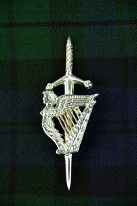 Scottish Lady harp kilt pin | Scottish K | Made to order