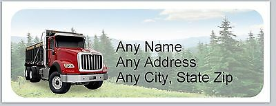 30 Personalized Address Labels SemiTruck Buy 3 get 1 free (ac 652)
