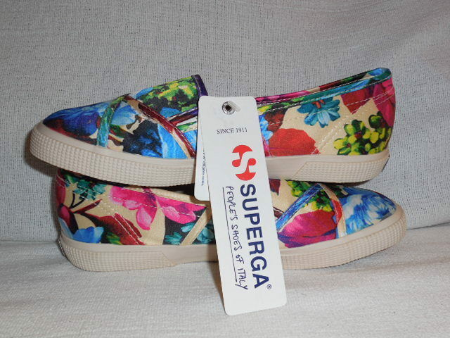 Superga  Flowery Bloomingdale's Floral Silk Cotton  Sneakers Womens size 5 M