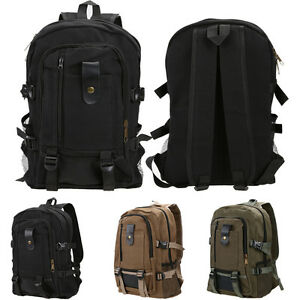 Vintage-Men-039-s-Canvas-Rucksack-Satchel-School-Backpack-Shoulder-Travel-Hiking-Bag