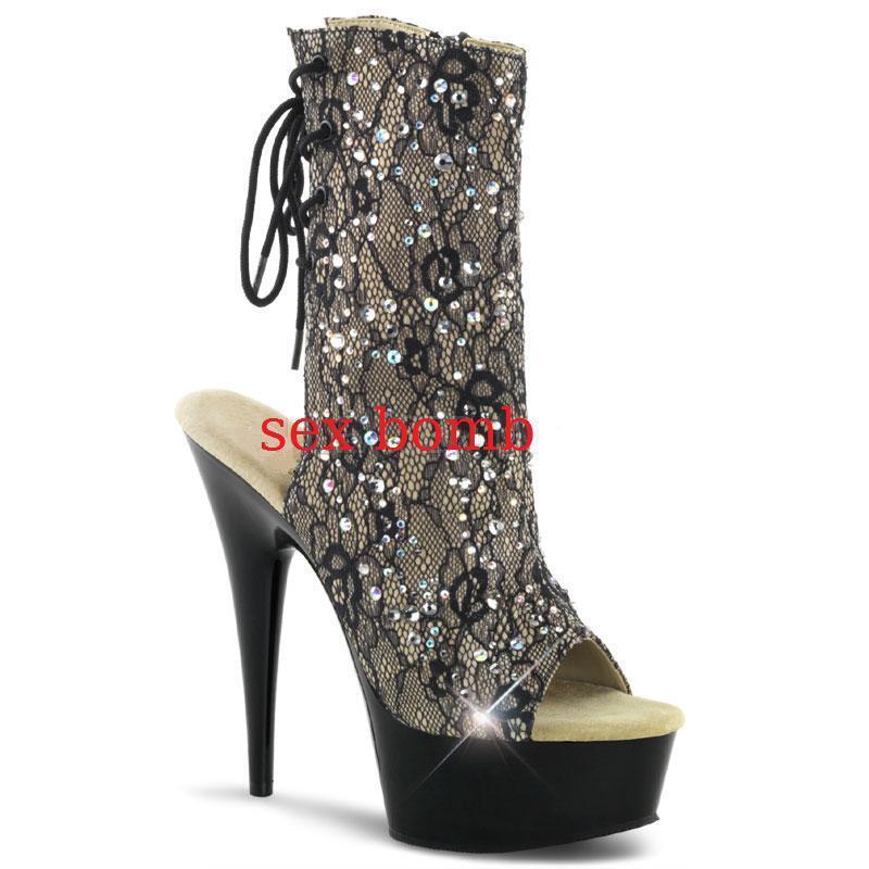 Alto 600 Tacón Zapatos Delight 48 Pleaser Shoes Señora 974994 JcTFKl13