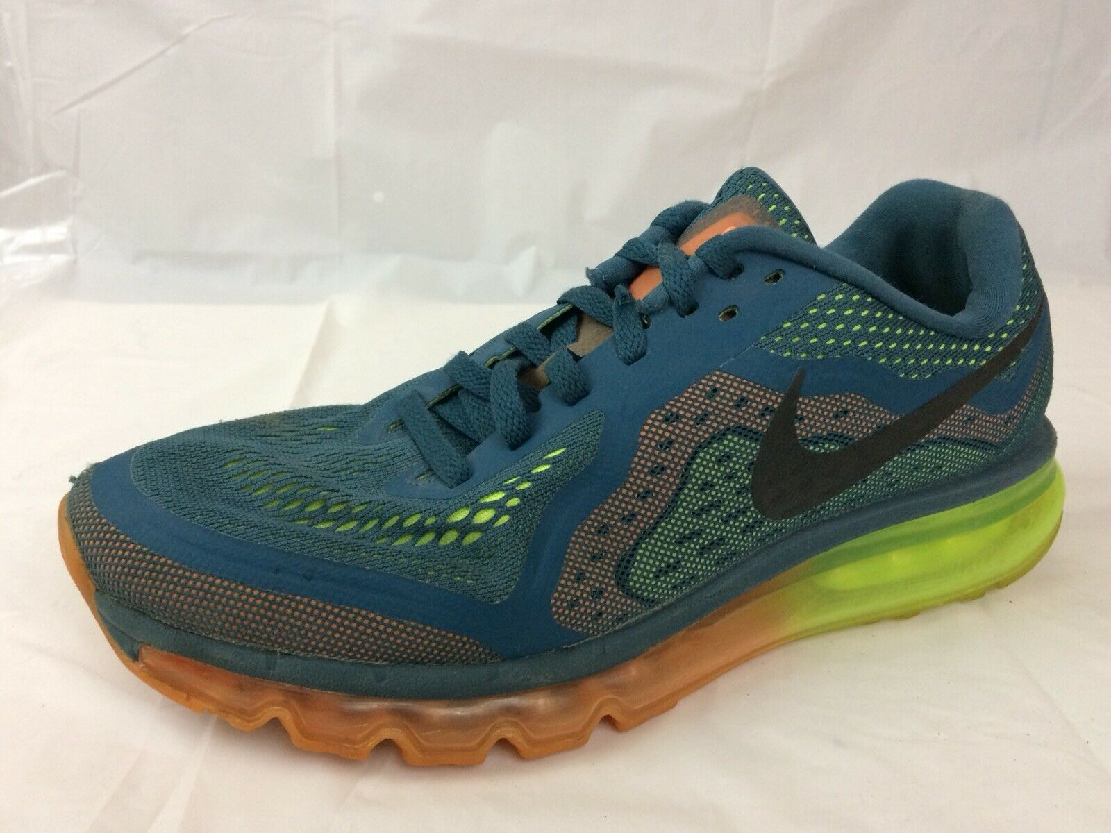 Nike Air Max 2014 Mens 9.5 Med Night Factor bluee orange 621077-308 Running shoes