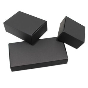 Black Kraft Paper Candy Gift Box Jewelry Wedding Party Packaging