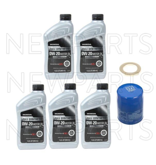 Set Of 5 Quarts Engine Oil & Oil Filter & Drain Plug