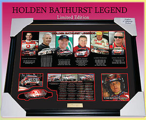 HOLDEN-BATHURST-LEGENDS-CAR-RACING-MEMORABILIA-FRAME-LIMITED-EDITION-w-C-O-A