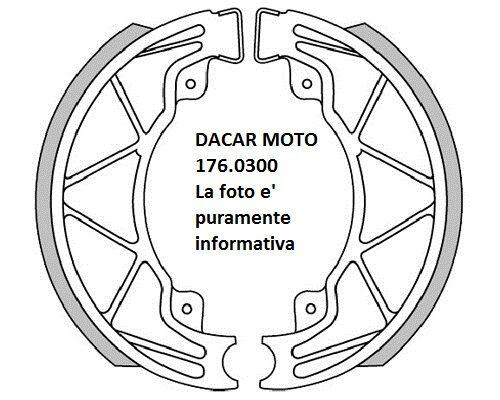 176.0300 Zapatas Del Freno Freno D.140x25 Muelles Polini Piaggio Hexágono 125 LX
