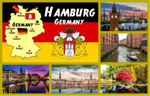 Hambourg,Allemagne Neuf // Flags Souvenir Nouveauté Réfrigérateur Aimant