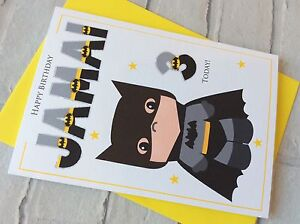 Image Is Loading Handmade Personalised Batman Superhero Birthday Card Son Nephew