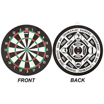 Regulation Size 2 In 1 Paper Baseball Dartboard Set With 6