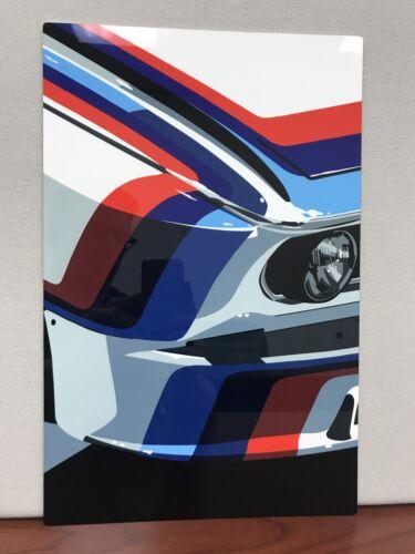 Hi definition Metal Panel BMW 3.0 Csl Race Car Art sign