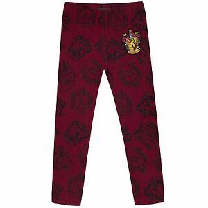 Girls-Harry-Potter-Leggings-Harry-Potter-Trousers-Kids-Hogwarts-Bottoms