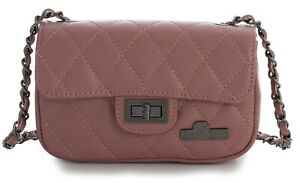 8c2712f34e Image is loading LiaTalia-Quilted-Genuine-Italian-Leather-Small-Size-Evening -