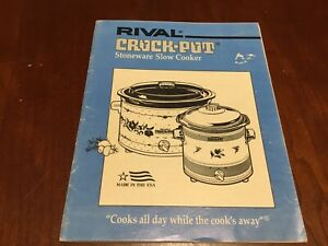 crock pot rival instruction manual