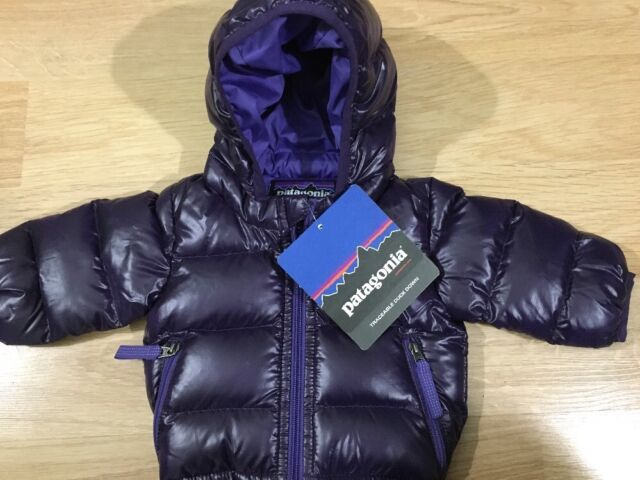5f535230634c Purple Patagonia Baby Hi-loft Down Sweater Hoody Size 0m for sale ...
