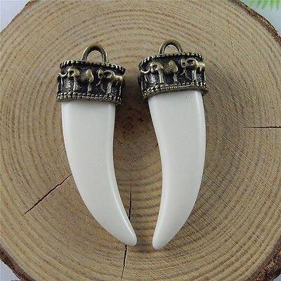 39058 Vintage Silver Alloy Elephant Buddha Pendants Charms Craft Findings 8pcs