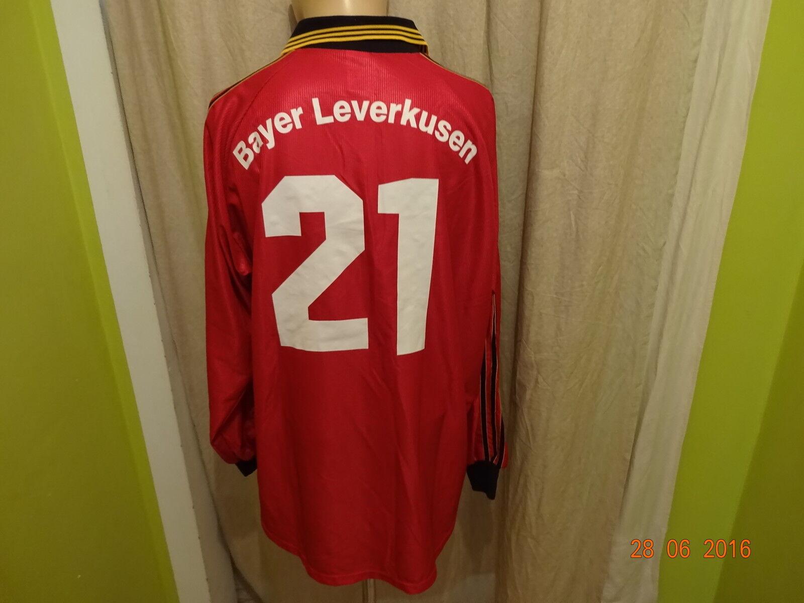 Bayer 04 Leverkusen Adidas Langarm Matchworn Trikot 98 99 99 99  ASPIRIN + Nr.21 Gr.XL    Verschiedene Stile  2a7eec