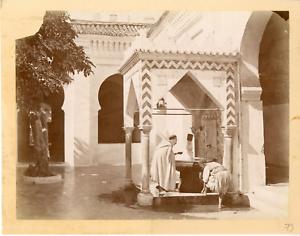 Algerie-Fontaine-Vintage-albumen-print-Tirage-albumine-21x27-Circa-1