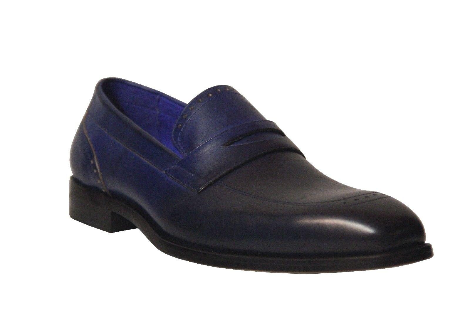 marchio in liquidazione Steven Land Uomo Imperial blu Genuine Genuine Genuine Leather Slip On Dress scarpe SL0016  negozio di sconto