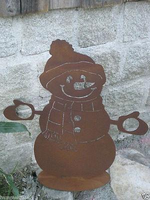 Edelrost Flamme Schraubgewinde Herbst Xmas Weihnachten Christmas 18,5x7,5cm