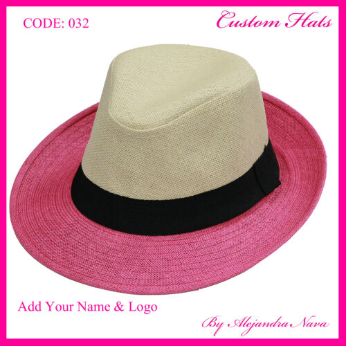 personalized handmade women summer hat  business hat two tone one tone hat