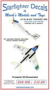 Starfighter Decals 1//350 A-6E KA-6D TRAM INTRUDER VA-35 BLACK PANTHERS 1980