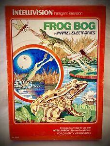 FROG-BOG-Vintage-1982-Mattel-Intellivision-Video-Game