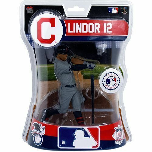 Francisco Lindor Cleveland Indians Imports Dragon MLB Baseball Action Figure 6
