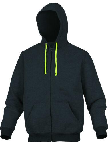 Delta Plus panoplia Cento Gris para hombre con cremallera sudadera con capucha Sweater Top Jumper BNWT