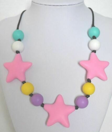 LOUISE MultiStar Necklace Baby Teething Necklace Silicone Autism Sensory Chewing