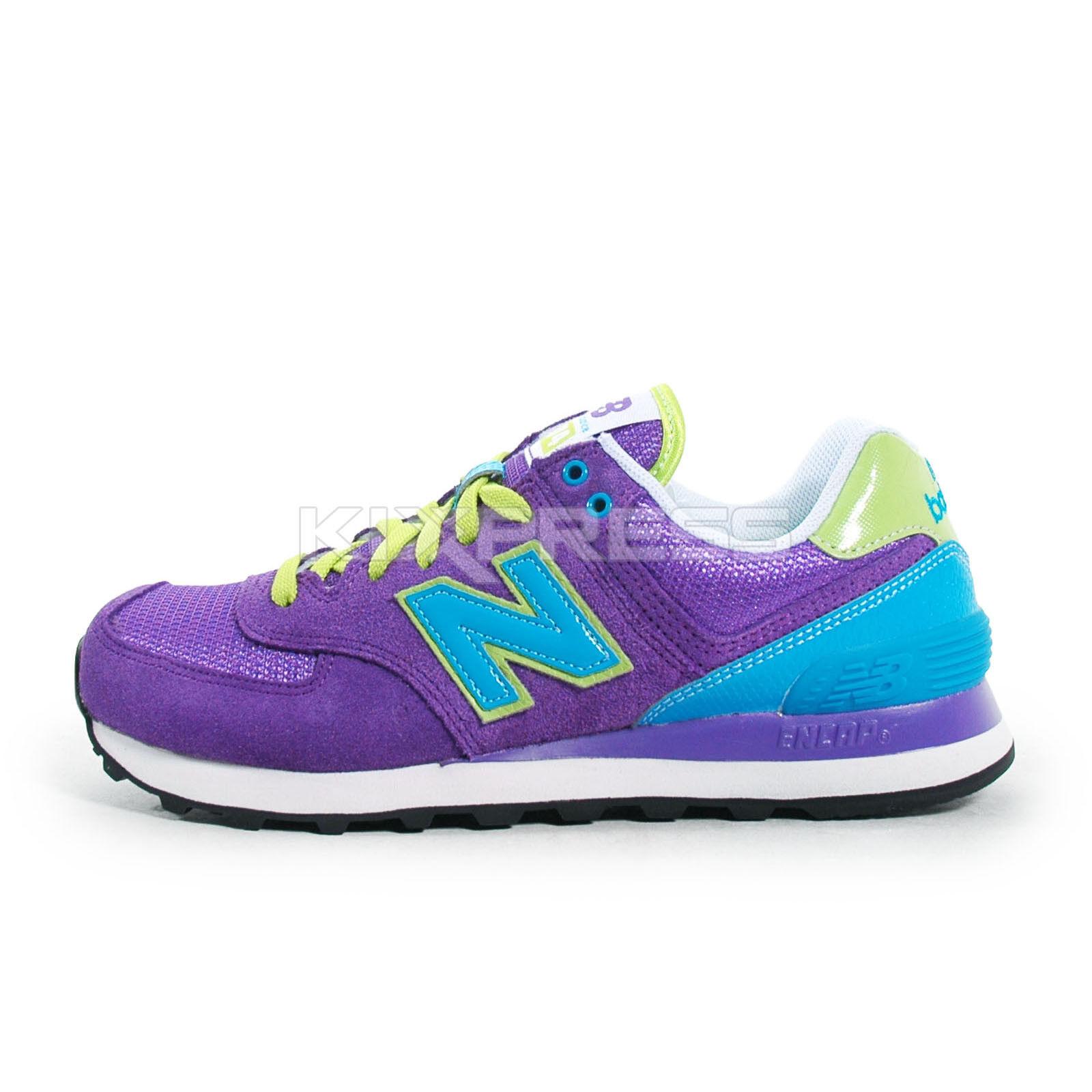 New Balance WL574 [WL574BFU] Classic Running Purple/Turquoise