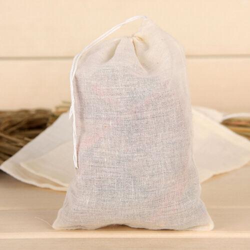 5X Cotton Muslin Drawstring Straining Tea Cooking Separate Spice Food Filter Bag