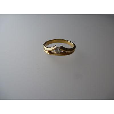 Pierre Lang PL Modeschmuck, glanzvoller goldfarbener Ring mit Steinchen Gr.7