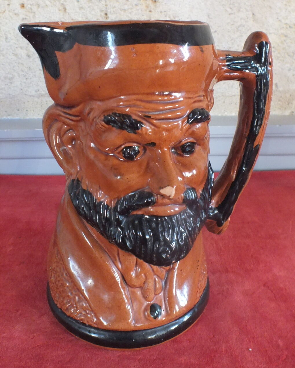 Pitcher slip character bearded man pitcher bearded man