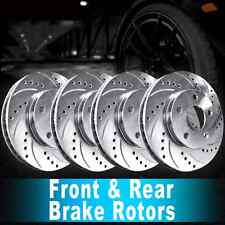 Front Rear Brake Rotors Drilled & Slotted For FORD F-150 2000-2003 HERITAGE 2004