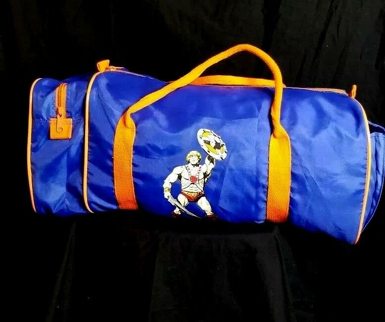 Vintage Mattel 1983 Master Of The Universe He-Man Canvas Duffle Gym Bag