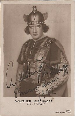 """German Tenor As """"tristan"""" Walther Kirchhoff Handsigned B/w Photograph Orig"""