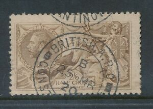 GB SEAHORSE 2/6 USED in TURKEY BRITISH ARMY POST OFFICE CONSTANTINOPLE 1920