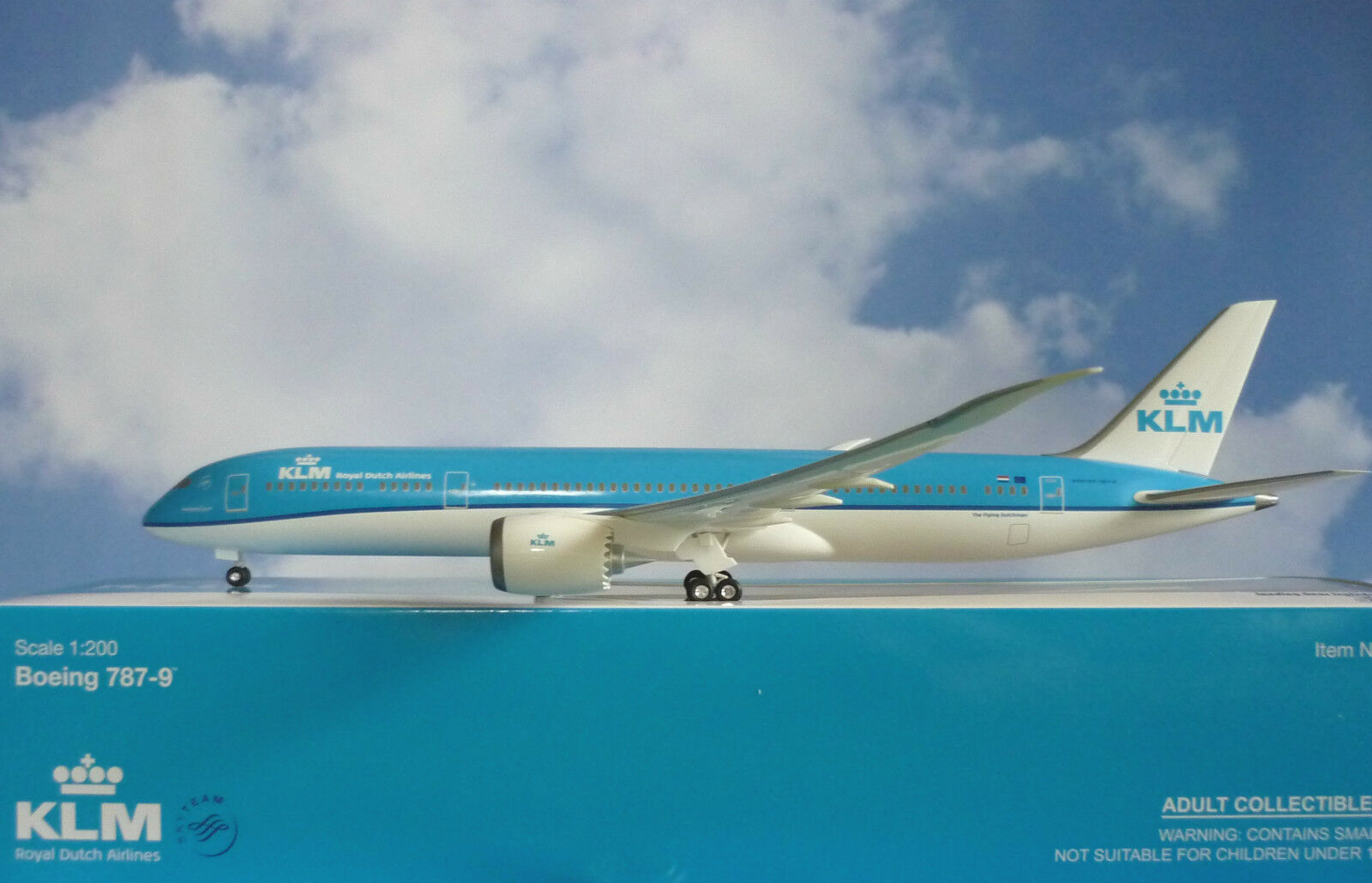 Hogan Wings 1 200 Boeing 787-9 Klm Airlines New Couleurs + Herpa Wings Catalogo