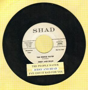 Jerry-amp-Brad-The-People-Hater-Vinyl-45-rpm-record-Promo-Free-Ship