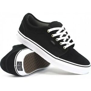 2ee4770f0c8641 VANS CHUKKA LOW BLACK PEWTER WHITE SZ SIZE MENS 6.5 SHOES SKATE SK8 ...