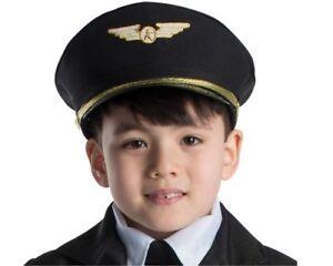Kids Pilot Hat by Dress Up America - One Size fits all 86138907015 ... 53bac1f9b00d
