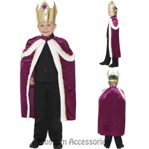 Royal King Purple Robe and Crown Child Set Costume Accessory