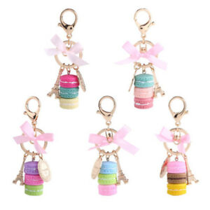 Colorful-Cute-Alloy-Macaroon-Keychain-Keyring-Bag-Pendant-Car-Charm-Decoration